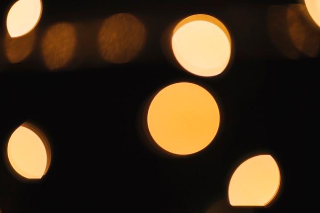 Close-up brilhantes manchas de luz