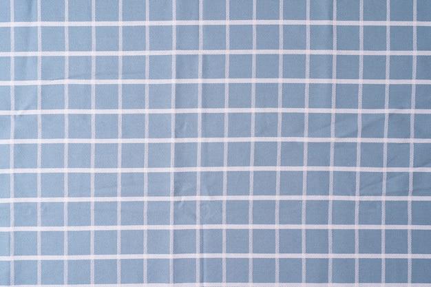 Close up check shirt tecido padrão e fundo tecido textura xadrez fundo de tecido azul
