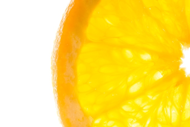 Close-up cortar fatias de laranja fresca