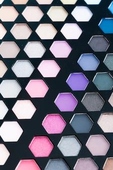 Close-up cosmético de sombra de olho