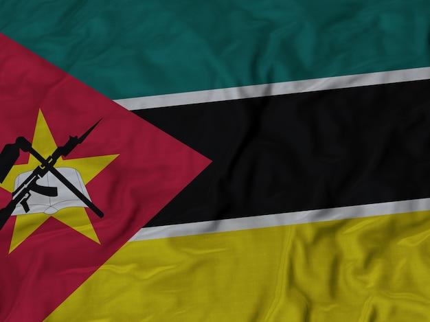 Close-up da bandeira de moçambique ruffled