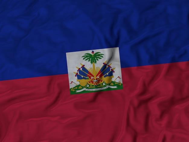 Close-up da bandeira do haiti ruffled