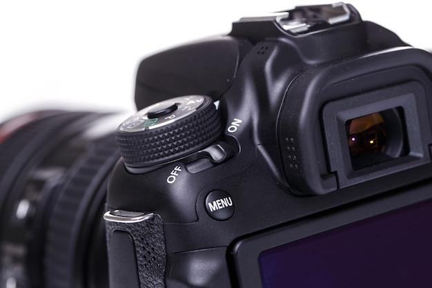 Close-up da câmera dslr