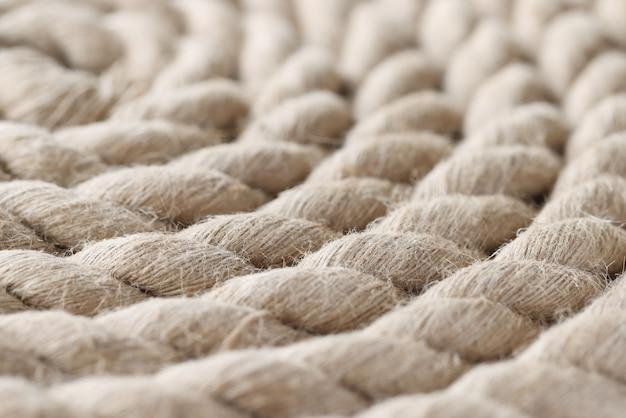 Close up da corda náutica dobrada em espiral. conceito de construtor naval