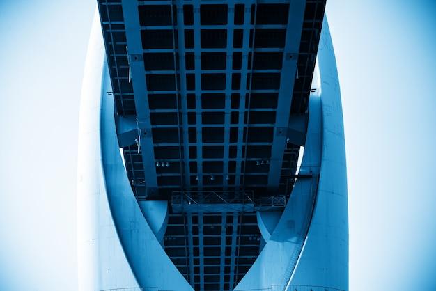 Close up da estrutura da ponte, ponte do rio yangtze em chongqing