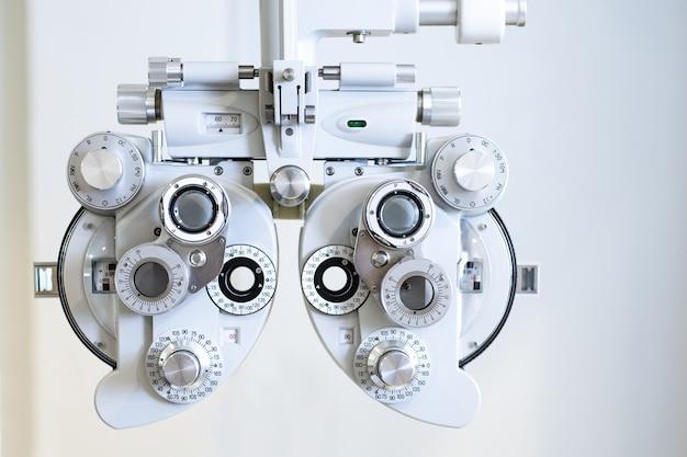 Close up da ferramenta de exame óptico
