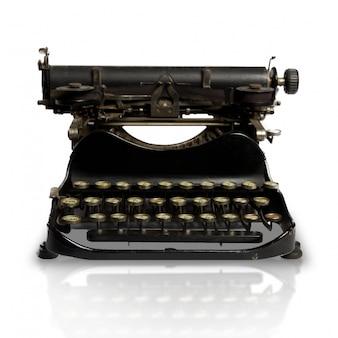 Close-up da máquina de escrever do vintage