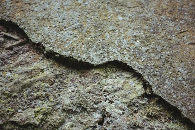 Close-up da parede de pedra resistido