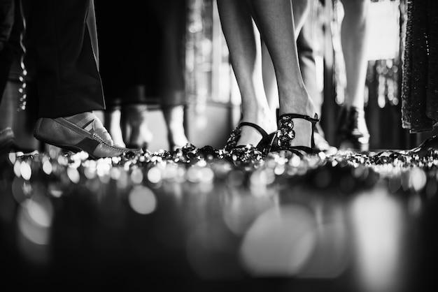 Close up da pista de dança