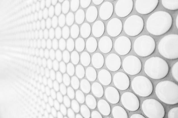 Close-up da superfície com círculos brancos