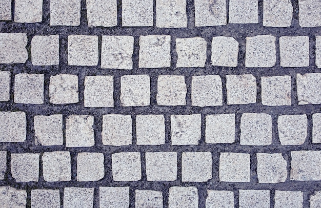 Close up da textura das lajes de pavimentação com tonalidade