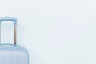 Close-up, de, bagagem azul, saco, branco, fundo