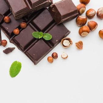 Close-up de barra de chocolate