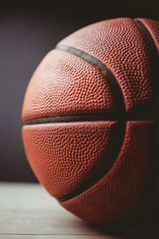 Close-up de basquete