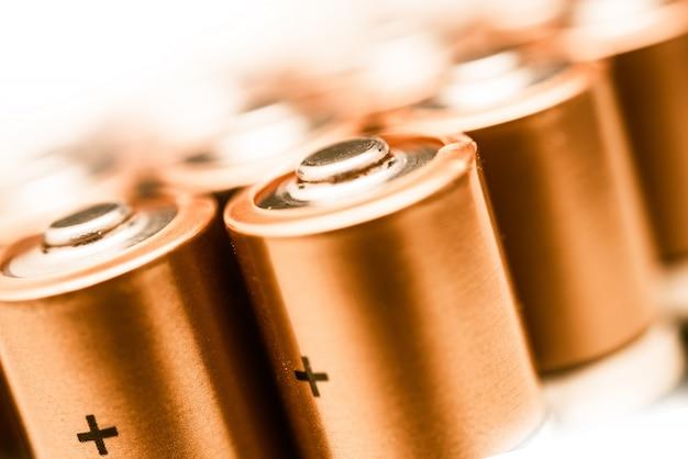 Close up de baterias aa
