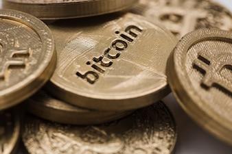 Close-up, de, bitcoins