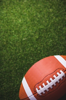 Close-up de bola de rugby