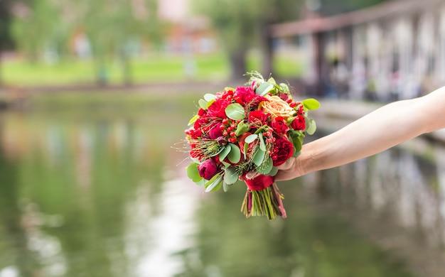 Close-up de buquê de casamento