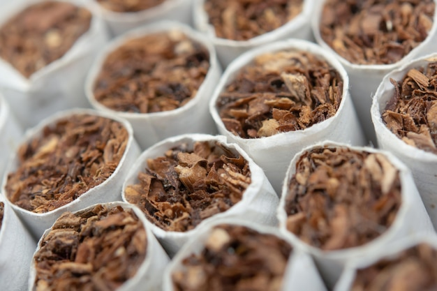 Close-up de cigarros