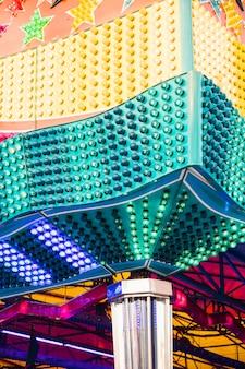 Close-up, de, colorido, carrossel, lâmpadas