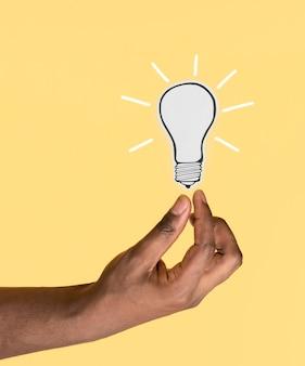 Close up de conceito de ideia