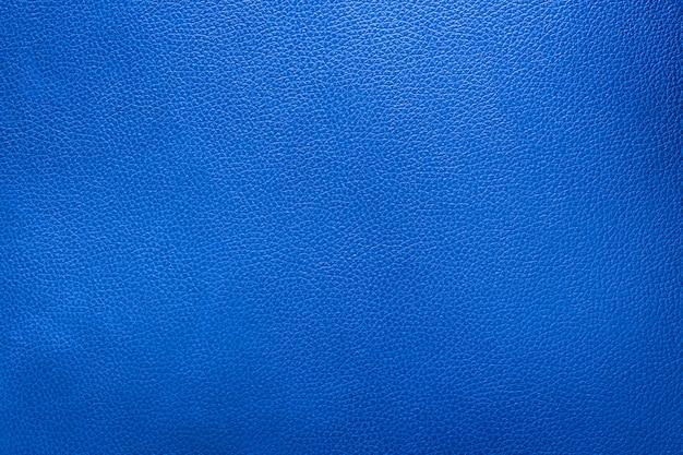 Close-up de couro azul e textura de fundo