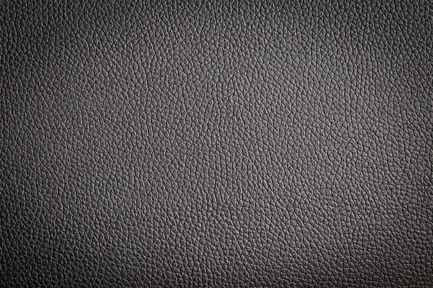 Close-up de couro preto e fundo de textura