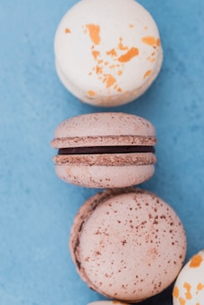 Close-up de deliciosos macarons