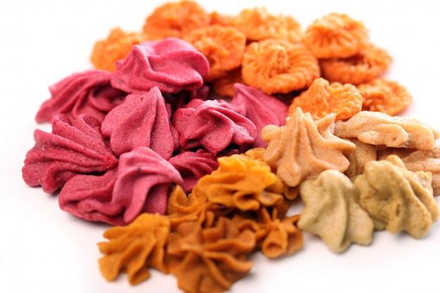Close-up de doces coloridos