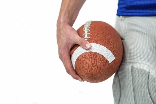 Close-up, de, esportes, jogador, segurando bola