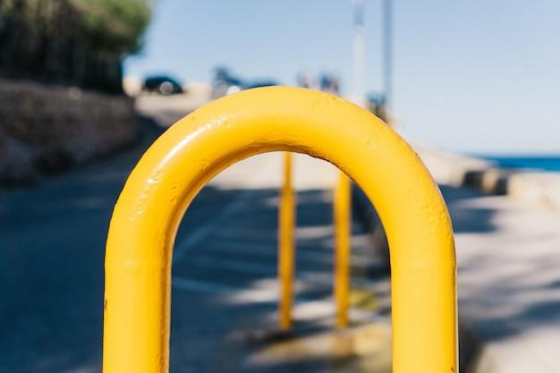 Close-up de estacionamento para bicicletas