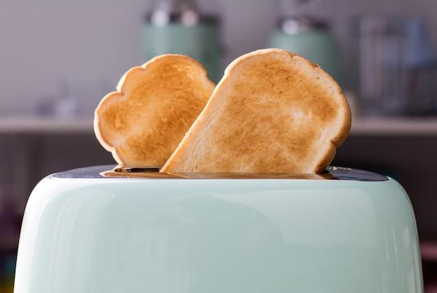 Close-up de fatias de pão em uma ostra