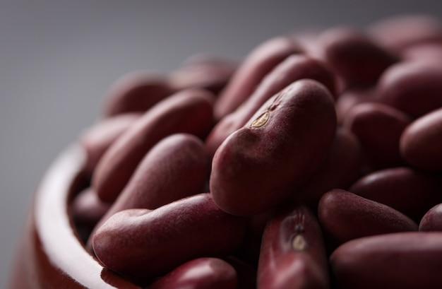 Close-up de feijões vermelhos