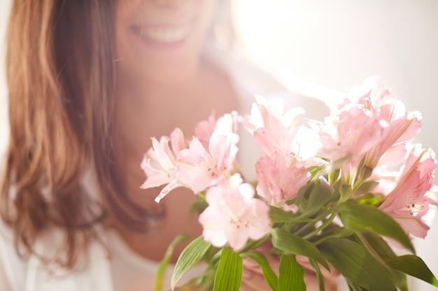 Close-up de flores em um dia ensolarado