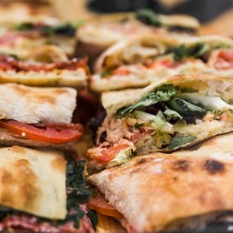 Close-up, de, fresco, vegetal, quesadilla