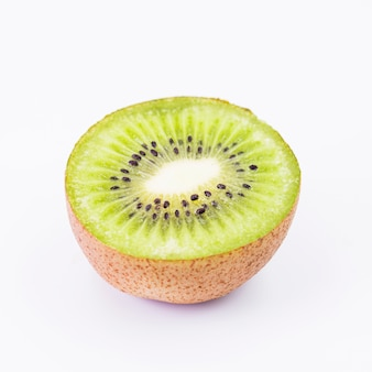Close-up, de, fruta kiwi, branco, fundo