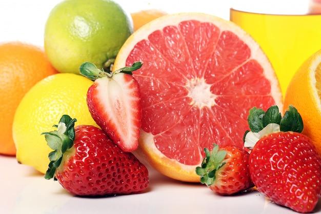 Close-up de frutas frescas