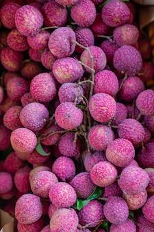 Close-up de frutas lichia