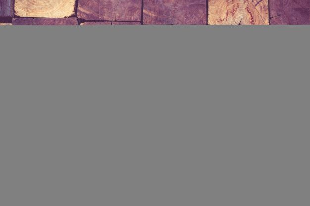 Close-up de fundo de textura de parede de bloco de madeira rústica, filtro vintage
