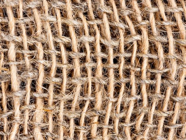 Close-up de fundo de textura de serapilheira ou pano de saco