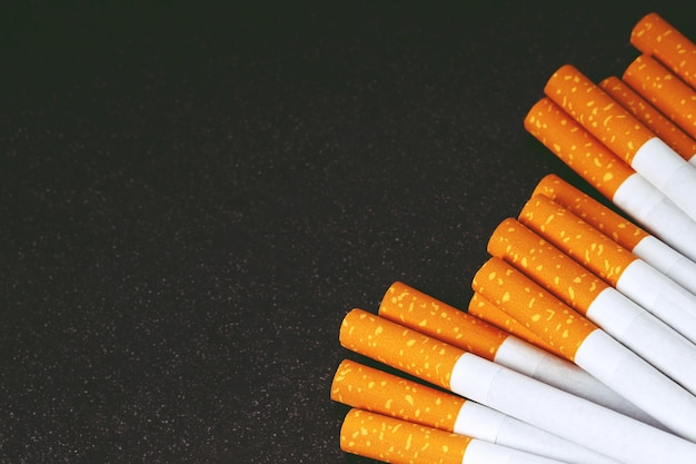 Close-up de fundo ou textura de cigarros de tabaco