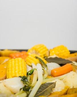 Close-up, de, gostosa, alimento saudável