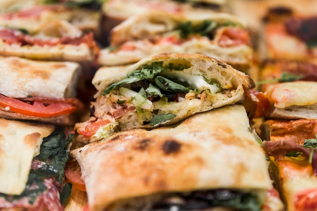 Close-up, de, gostosa, fresco, quesadilla