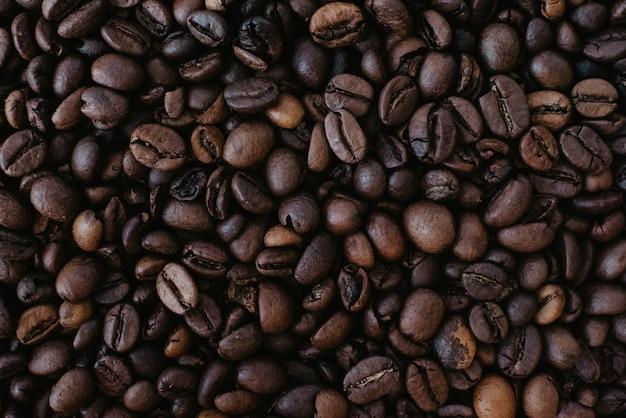 Close-up de grãos de café