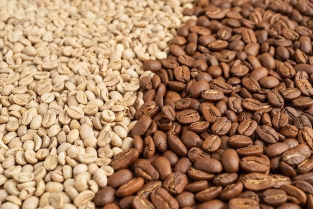 Close up de grãos de café