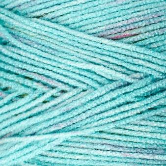 Close-up de lã de cor turquesa