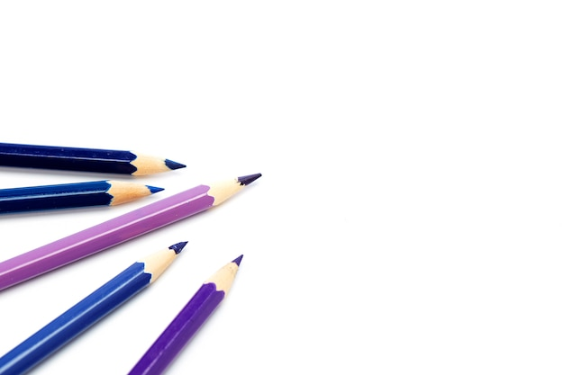Close-up, de, lápis coloridos, branco