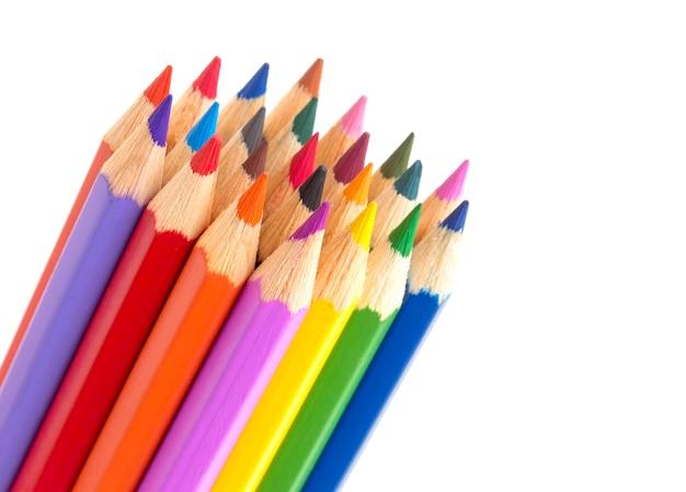 Close-up de lápis de cor em branco