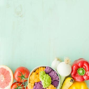 Close-up, de, legumes, ligado, textured, fundo