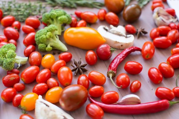 Close-up de legumes.